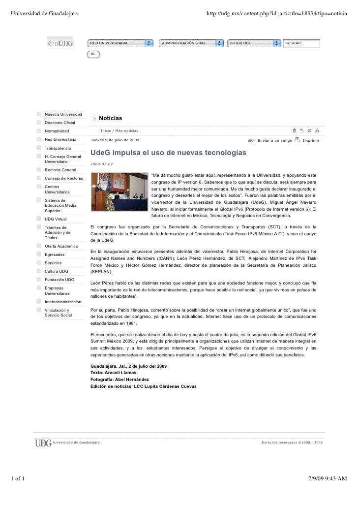 Universidad de Guadalajara                                                                        http://udg.mx/content.ph...