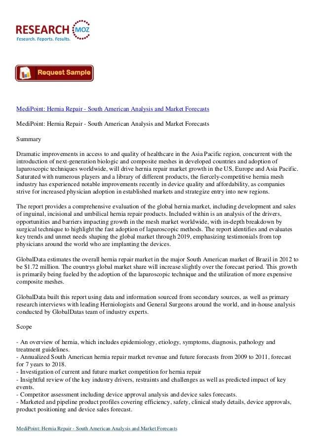 MediPoint: Hernia Repair - South American Analysis and Market Forecasts MediPoint: Hernia Repair - South American Analysis...