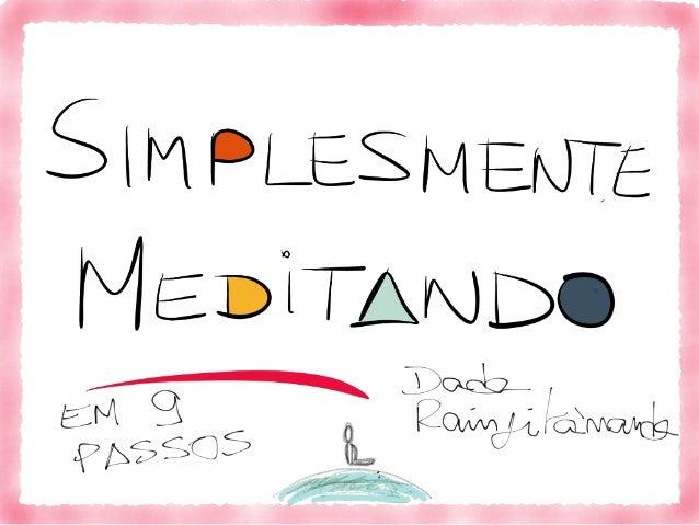Meditação Simplesmente em português