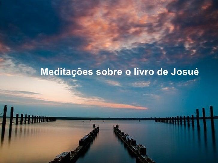 Meditações sobre o livro de Josué
