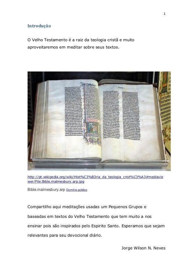 Meditando no Velho Testamento Slide 2