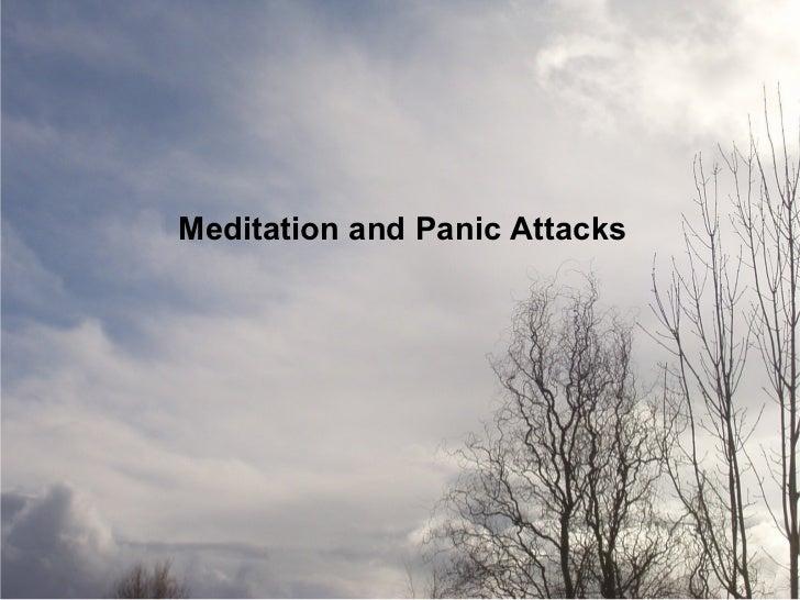 Meditation and Panic Attacks