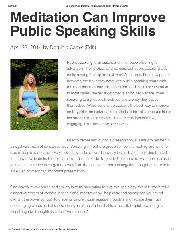 public speaking 10 minute informative speech