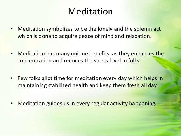 Meditation techniques for lung cancer patient Slide 2