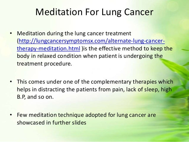 meditation techniques for lung cancer patient