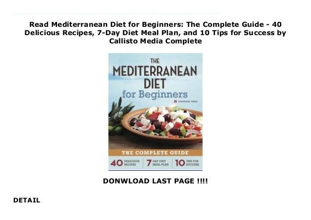 Read Mediterranean Diet for Beginners: The Complete Guide