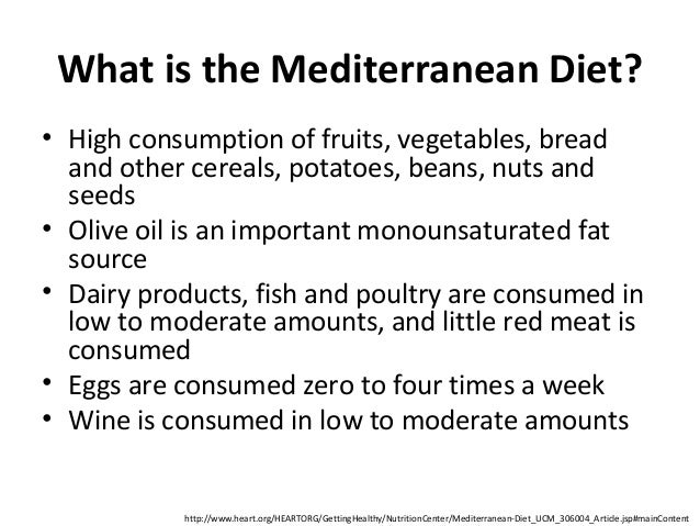 American Meals VS Mediterranean Diet Meals