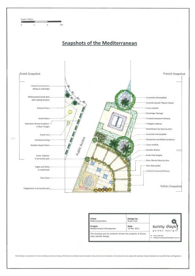 Design A Waterwise Garden: Mediterranean Garden Design - Australia