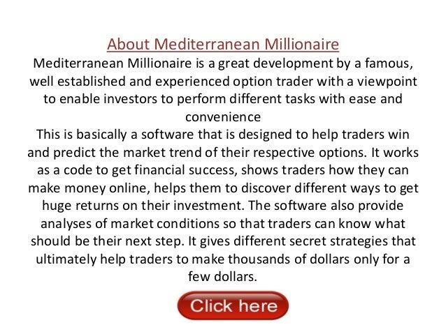 Millionaire binary options trader