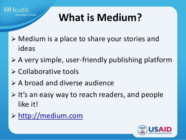 Show and Tell : Medium Slide 2