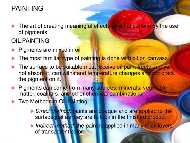 classification of painting media Occupational exposure as a painter has been classified since 1989 as  carcinogenic to humans, and this new evaluation has linked painting to lung  cancer and.