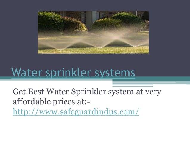 Medium Velocity Water Spray System Design