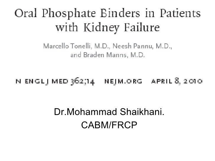 Dr.Mohammad Shaikhani. CABM/FRCP