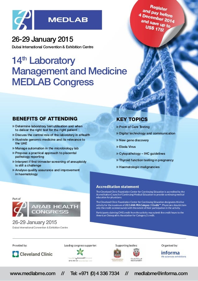 Largest laboratory conference in the Middle East