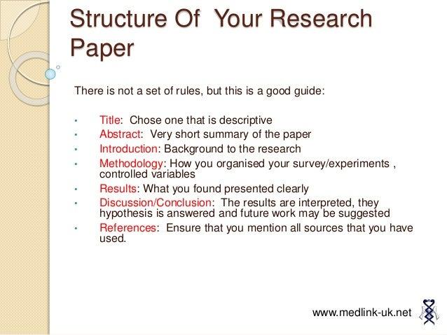 medlink research paper 2012
