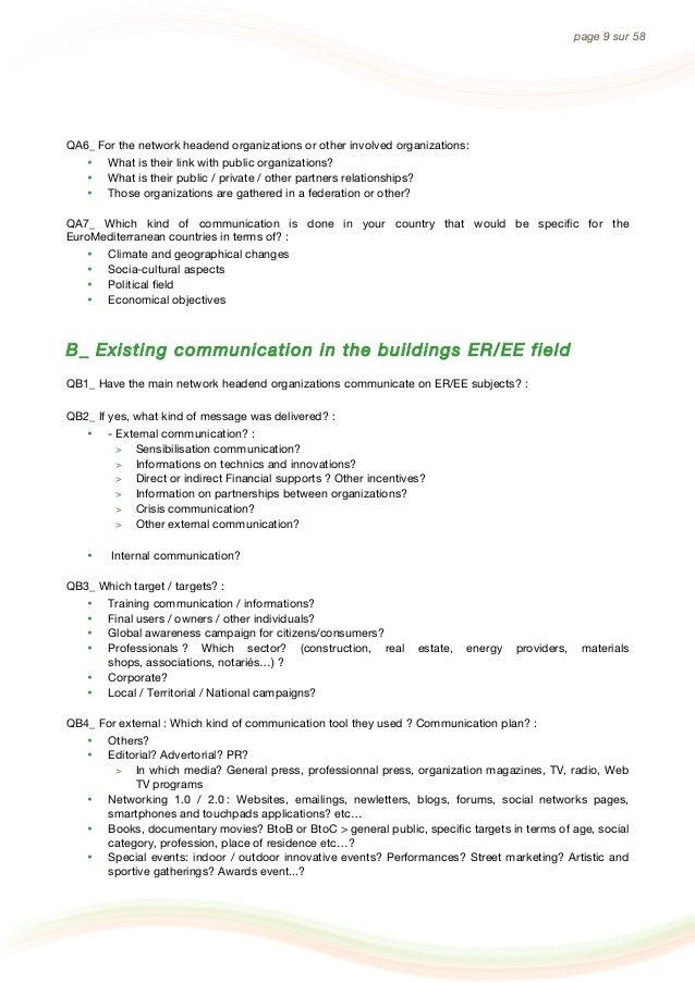 MARIE MED ANNEXES - Communication strategic analysis on