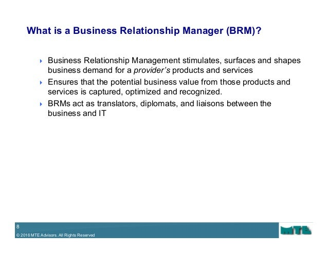 it relationship management aligning with the business