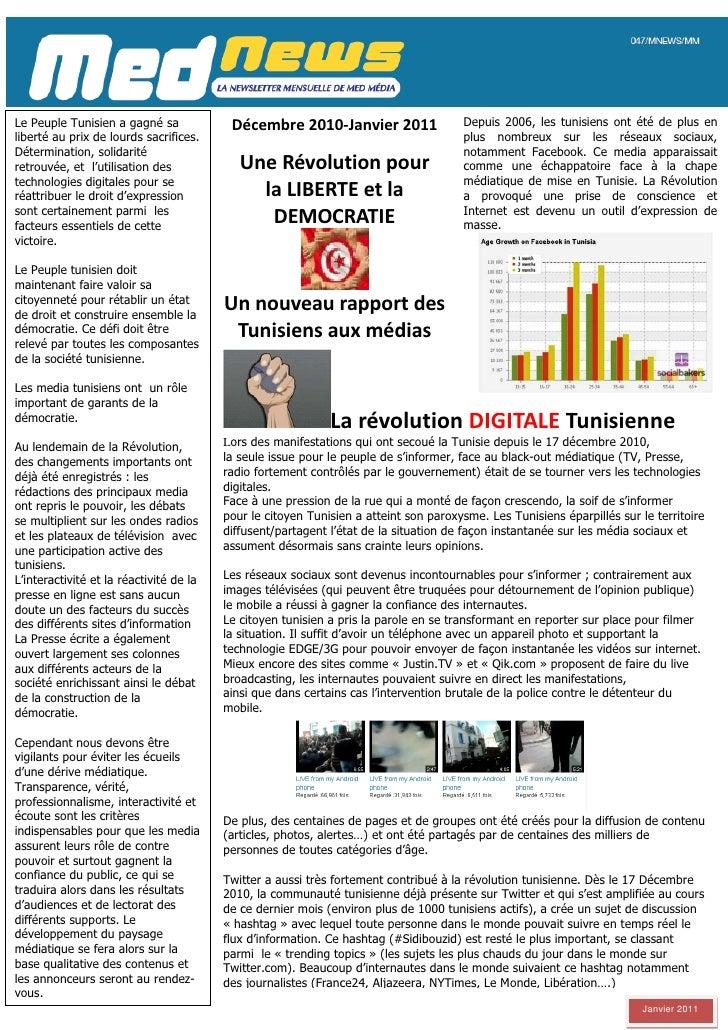 Le Peuple Tunisien a gagné sa             Décembre 2010-Janvier 2011                  Depuis 2006, les tunisiens ont été d...