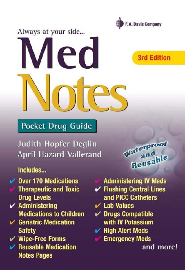 iv med notes nurses clinical pocket guide davis notes