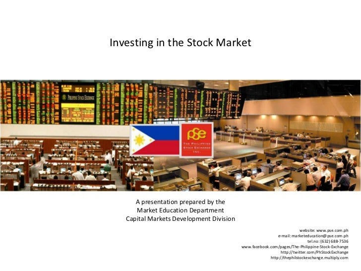 Investing in the Stock Market<br />A presentation prepared by the                                                         ...