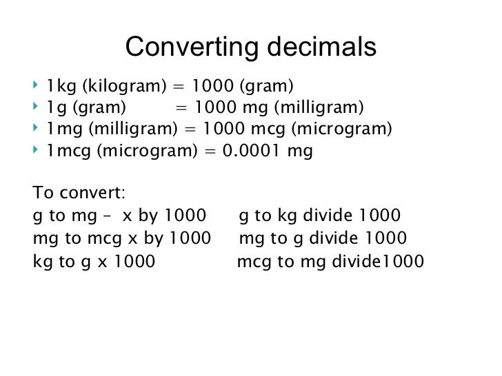 Medication Conversion Chart Erkalnathandedecker
