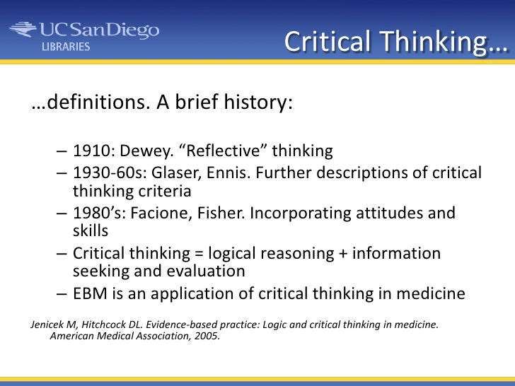 Eight Habits and Critical Thinking Characteristics