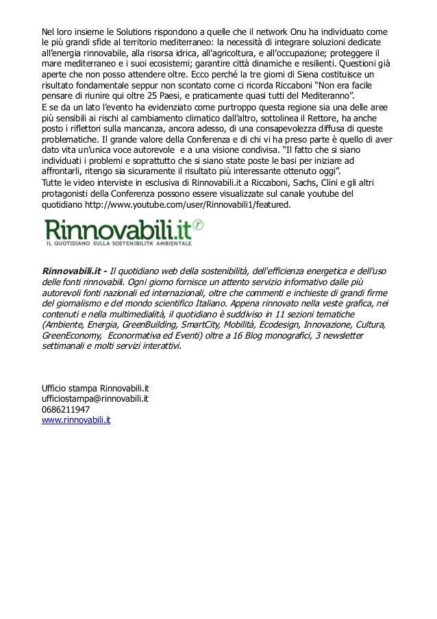 Med-Solutions, la rete del mediterraneo raccontata da Rinnovabili.it Slide 3