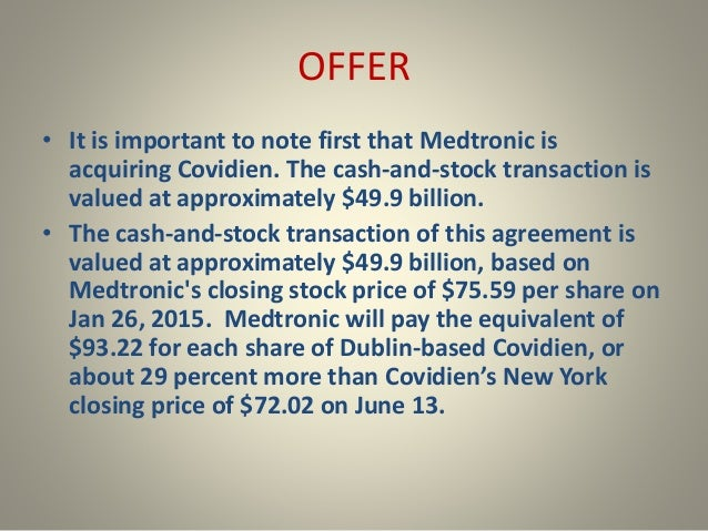 Medtronic and covidien merger case