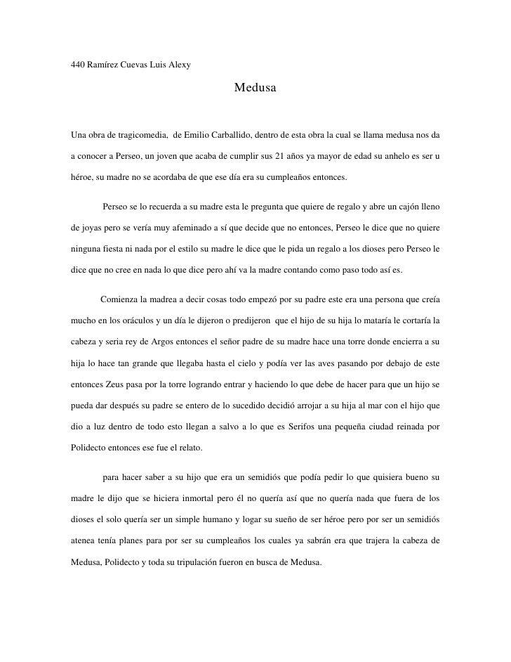 440 Ramírez Cuevas Luis Alexy                                             MedusaUna obra de tragicomedia, de Emilio Carbal...