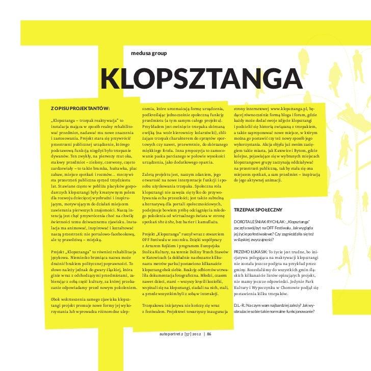 medusa group                           KlopsztangaZopisu projektantów:                              szenia, które urozmai...