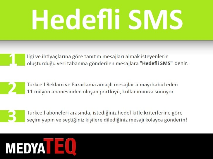 MedyaTEQ Hedefli SMS Slide 2