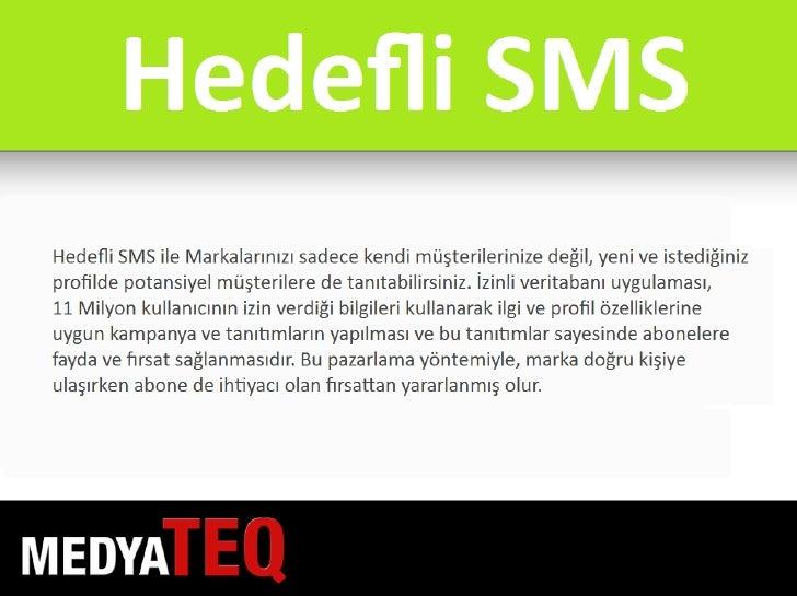 MedyaTEQ Hedefli SMS Slide 3