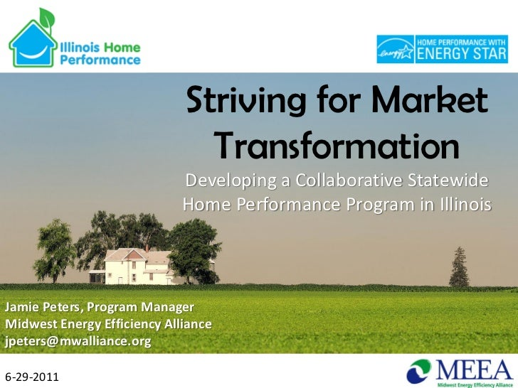 Striving for Market                               Transformation                             Developing a Collaborative St...