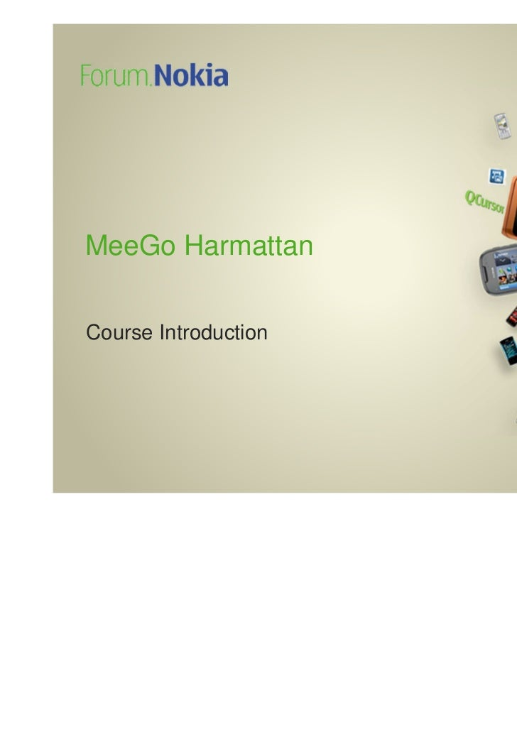 MeeGo HarmattanCourse Introduction