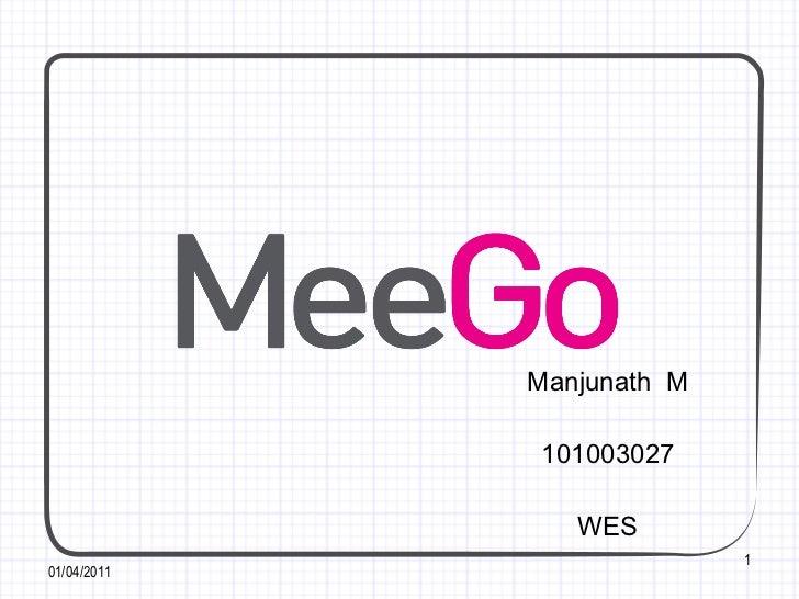 Manjunath  M 101003027 WES 01/04/2011