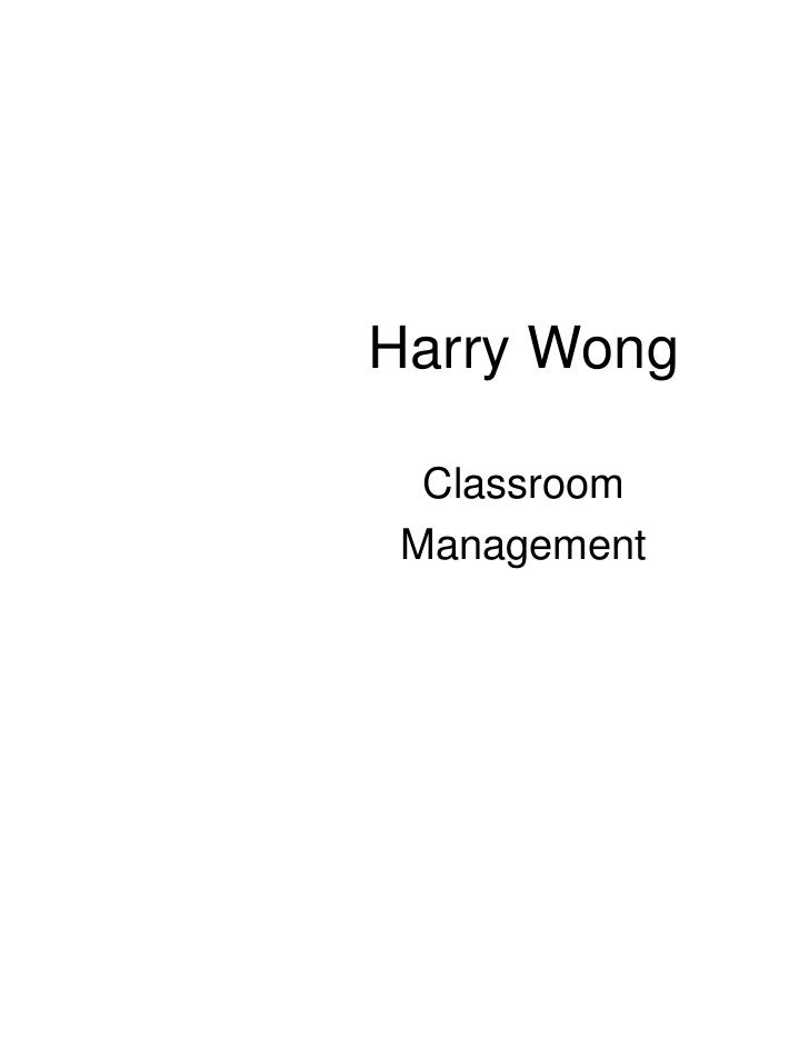 Harry Wong  Classroom Management
