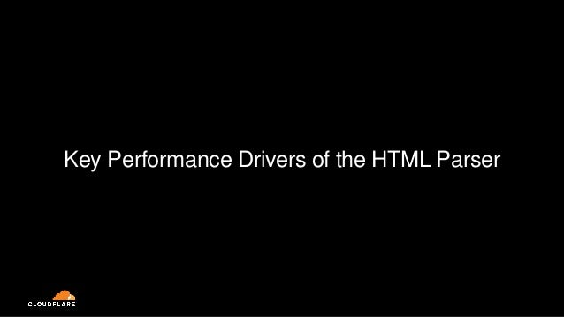 Key Performance Drivers of the HTML Parser
