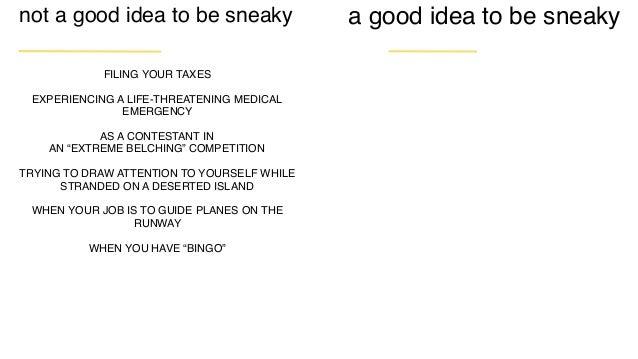 sneaky radical brainstorming