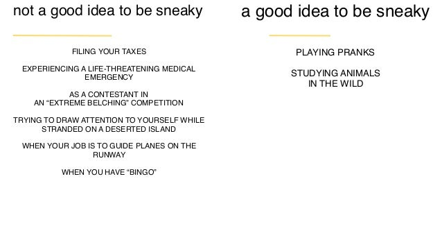 """sneaky What is one specific innovation behavior you'd like to see on your team? What's one """"sneaky"""" way to embed that beha..."""
