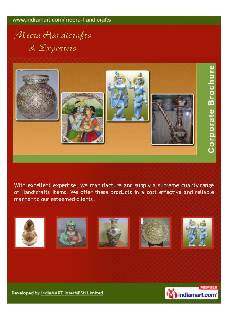 With excellent expertise, we manufacture and supply a supreme quality rangeof Handicrafts Items. We offer these products i...