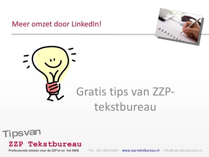 Meer omzet door LinkedIn! Gratis tips van ZZP-tekstbureau