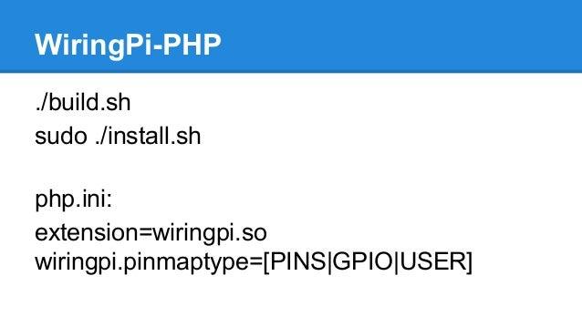 meet php gpio rh slideshare net wiringpi php sudo