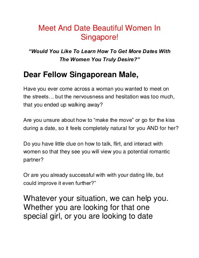 dating a singaporean woman