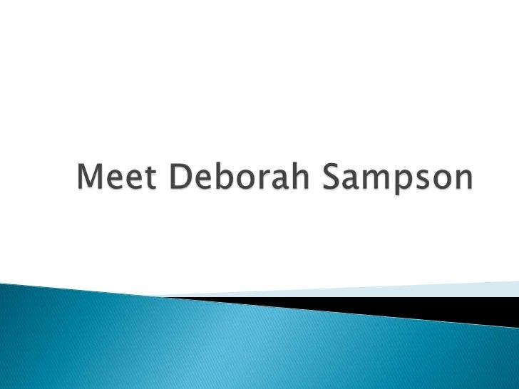 Meet Deborah Sampson<br />