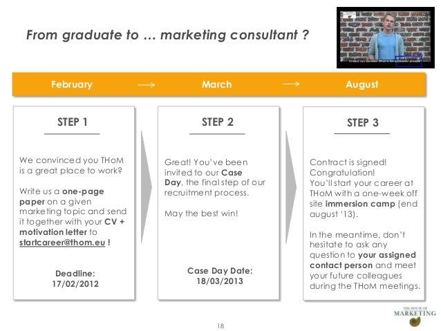 From graduate to … marketing consultant ?                February                  March                        August    ...