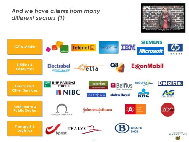 And we have clients from many       different sectors (1)          ICT & Media            Utilities &           Resources ...