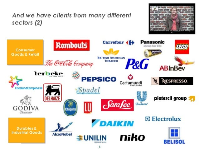 And we have clients from many different       sectors (2)        Consumer       Goods & Retail          Durables &       I...