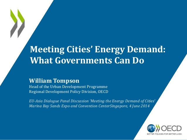 Meeting Cities' Energy Demand: What Governments Can Do William Tompson Head of the Urban Development Programme Regional De...