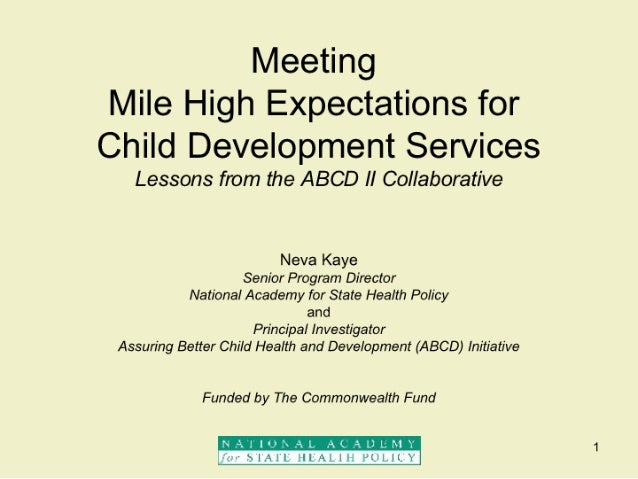 Meeting Mile High Expectations for Child Development Services