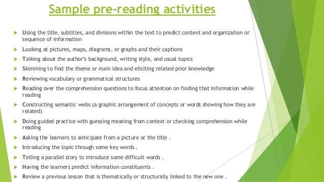 reading comprehension main idea worksheets